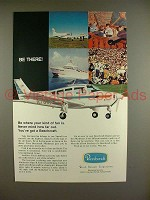 1970 Beechcraft Musketeer Plane Ad - Be There!