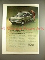 1970 Toyota Corolla Car Ad - Left Rear Window Beautiful