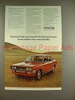 1970 Toyota Corona Car Ad - We Made it More Lovable