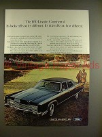 1970 Lincoln Continental Car Ad - Tell You Different