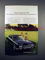1970 Lincoln Continental Car Ad - New Dimensions
