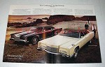 1970 2-pg Lincoln Continental & Continental Mark III Car Ad