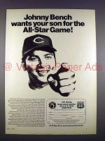 1971 Phillips 66 Ad w/ Johnny Bench - All Star Game!