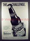 1971 Budweiser Beer Ad - The Challenge!