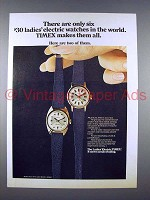 1971 Timex Electric Watch Ad - 801601, 800601