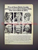 1971 Geritol Ad w/ Betty Grable - These Pictures