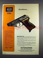 1971 Interarms Mauser HSc Pistol Gun Ad - Excellence