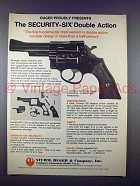 1971 Ruger Security-Six Double Action Revolver Gun Ad!