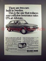 1972 Saab 99E Car Ad - Two Cars Built in Sweden