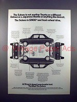 1971 Subaru Car Ad - Not Anything Like Detroit