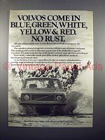 1971 Volvo Car Ad - No Rust!