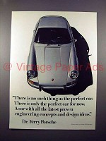 1971 Porsche Car Ad - No Such Thing as the Perfect Car