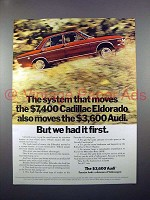 1971 Audi Car Ad - But We Had it First!
