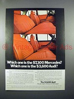 1971 Audi Car Ad - Which one is the $7,300 Mercedes?
