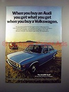 1971 Audi Car Ad - You Get What You Get!