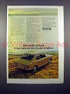 1971 Toyota Corolla Fastback Car Ad - Harder to Believe