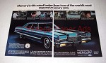 1971 2-pg Mercury Marquis Car Ad - Ride Rated Better!