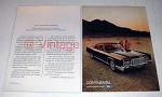 1972 Lincoln Continental Car Ad - Ego Is Important!