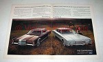 1971 2-pg Lincoln Continental Mark III & Continental Car Ad!