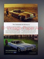 1971 Lincoln Continental Mark III & Continental Car Ad!