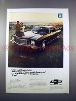 1971 Chevrolet Monte Carlo Car Ad - Remind of Luxury