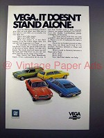 1971 Chevrolet Vega Car Ad - Doesn't Stand Alone