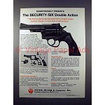 1972 Ruger Security Six Double Action Revolver Gun Ad