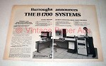 1972 Burroughs B1700 Computer System Ad!