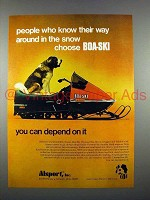 1972 Boa-Ski 140 Snowmobile Ad - People Who Know!