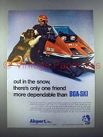 1972 Boa-Ski R/T 440 Snowmobile Ad - Out in the Snow