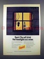 1972 Squirt Soda Ad - As a Mixer!
