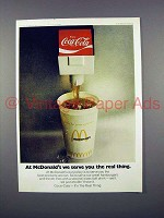 1972 McDonald's Ad - Coca-Cola Soda - Real Thing!
