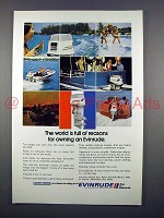 1972 Evinrude Outboard Motor Ad - Full of Reasons!