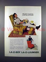 1972 La-Z-Boy La-Z-Lounger Chair Ad w/ Joe Namath