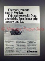 1972 Saab 99E Car Ad - Two Cars Built in Sweden!