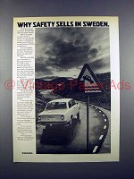 1972 Volvo Car Ad - Why Safety Sells in Sweden!