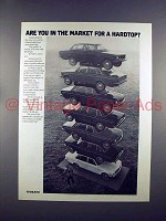 1972 Volvo Car Ad - In The Market for a Hardtop?