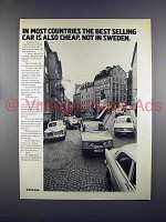 1972 Volvo Car Ad - Best Selling Car is Also Cheap!