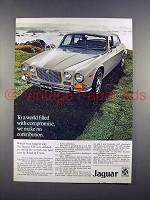 1972 Jaguar XJ6 Car Ad - World Filled with Compromise