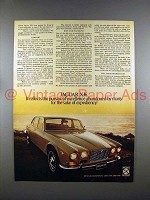 1972 Jaguar XJ6 Car Ad - Pursuit of Excellence
