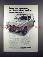 1972 Honda Sedan Car Ad - New Cars Depreciate