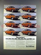 1972 Audi Car Ad - The Perfect 1,2,3,4,5,6,7,8 Car!