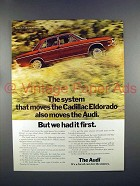 1972 Audi Car Ad - But We Had It First!