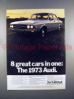 1973 Audi Car Ad - 8 Great Cars In One!