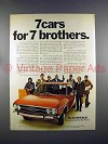 1972 Audi Car Ad - 7 Cars for 7 Brothers!