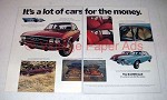 1972 Audi 100LS Car Ad - Lot of Cars for the Money!