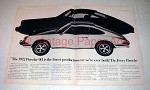 1972 Porsche 911 Car Ad - Finest Production Ever