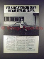 1972 Fiat 128 Car Ad - Drive the Car Ferrari Drives!