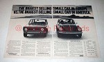 1972 Fiat 128 Car Ad - Biggest Small Car in Europe!