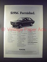 1972 Toyota Corolla 1200 Car Ad - $1956 Furnished